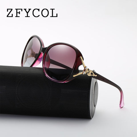 73b286bc4d92 ZFYCOL Vintage Sunglasses Polarized Women Brand Designer Fashion Summer  Style Goggle 2018 Lady Sun Glasses Female