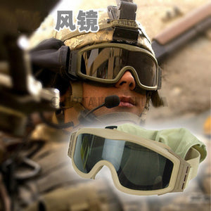 9a73deaa851 3 color Airsoft Tactical Goggles US Army Tactical Sunglasses Glasses Army  Airsoft Paintball Goggles