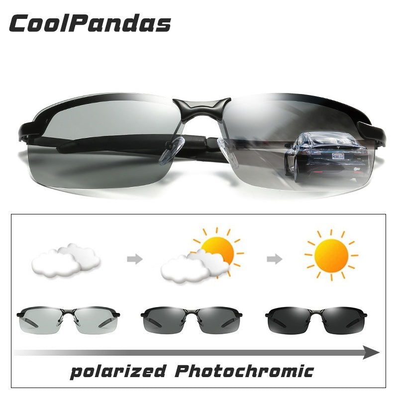 a18e6f4d93 2018 New Men s Photochromic Polarized Sunglasses Anti-UV Driving Eyewear  for Men Women Drivers UV400 ...