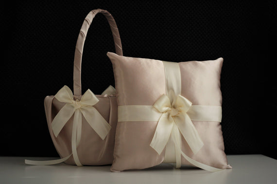 Beige wedding pillow