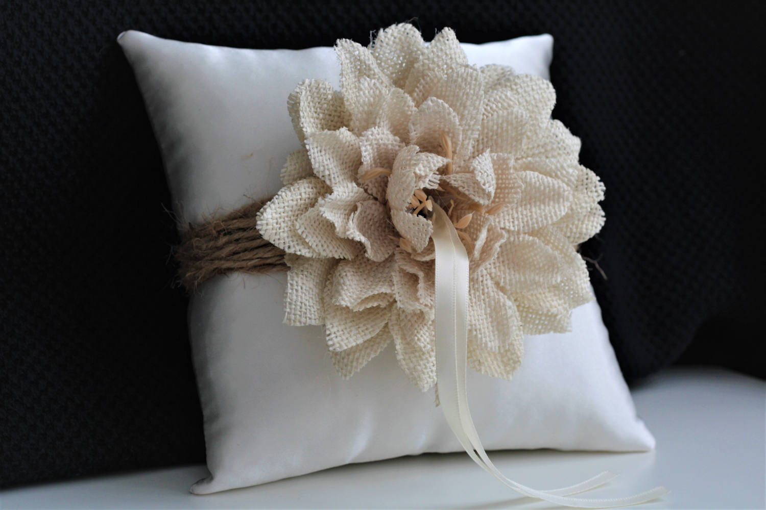 luna connie rustic pillows new and next in pillow ring birds wedding bearer