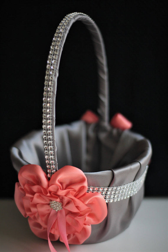 Coral Gray Basket