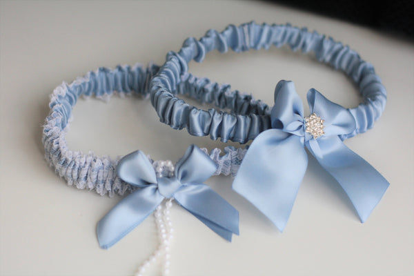 Steel Blue Garter Set