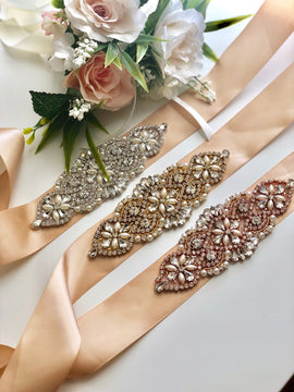 Champagne Wedding Belt, Tan Bridal Belt, Bridal Belts and Sashes, Wedding Belts, Gold Bridal Sash, Bridal Sash Belt, Rose Gold Bridal Belt