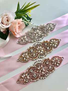 Pink Bridal Sash, Pink Wedding Belt, Bridesmaid Belt, Crystal Belt, Bridal Sash Belt, Pink Flower girl Belt Wedding, Bridal Accessories