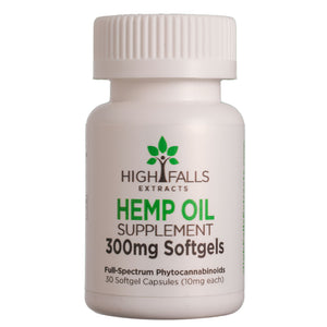 High Falls CBD Soft Gels | 300mg (30 Count of 10mg Capsules)