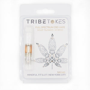 "TribeTokes CBD Vape Starter Kit | ""The Wand"" Black Pen Battery & Cartridge (Save $15)"