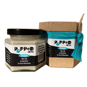 Popped.NYC Pain Relieving CBD Body Butter | 500 MG CBD (4 Oz)