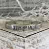 JEEPS & TACOS HANDMADE SKINNY SILVER CUFF BRACELET (STAMPIN STITCHIN)