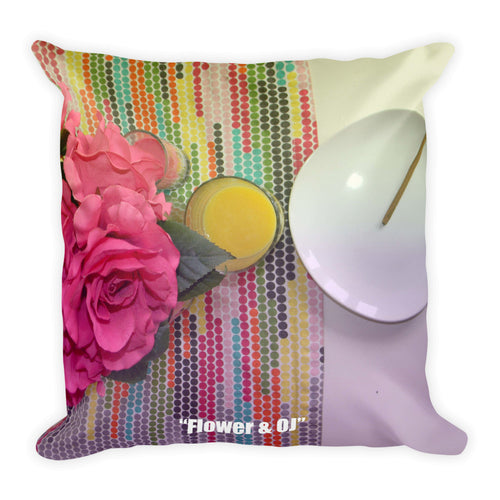 Flower and OJ Pillow
