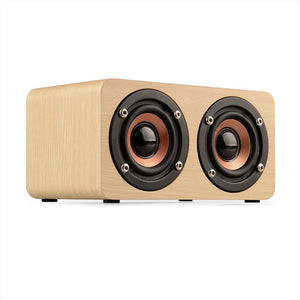 TOPROAD Portable Bluetooth Wooden Speaker - High Clef