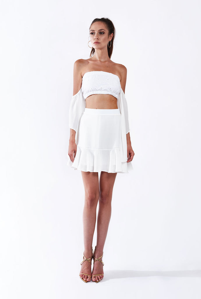 HOLLIDAY RUFFLE SKIRT