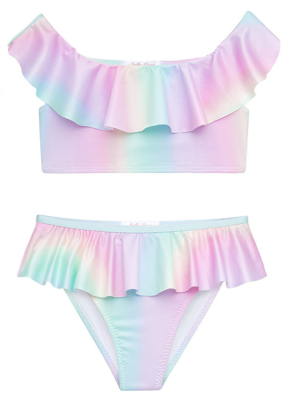 Rainbow Draped Bikini for Girls
