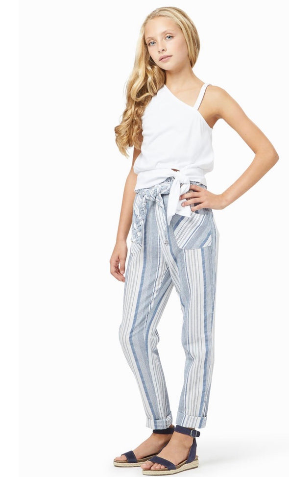 Paper Bag Stripe Pant by HabitualGirls
