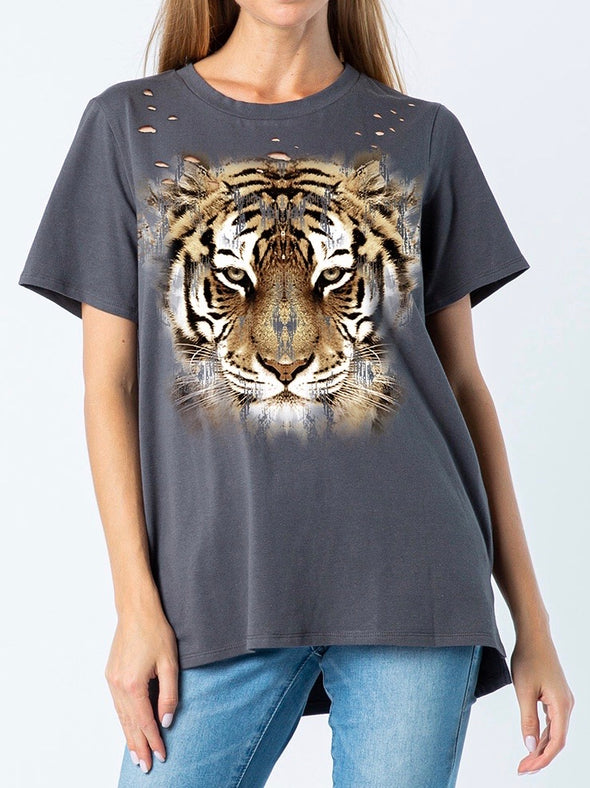 Distressed Tiger Tee