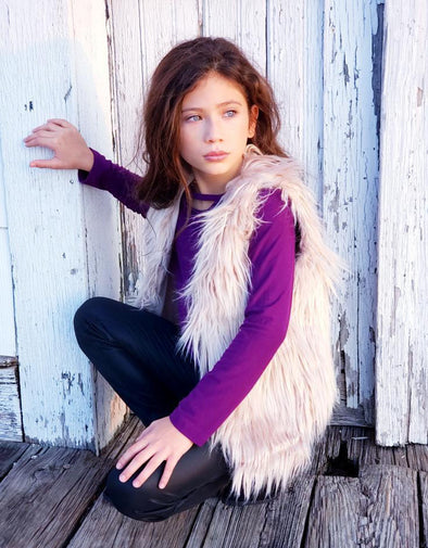 Faux Fur Vest by Hayden Girl