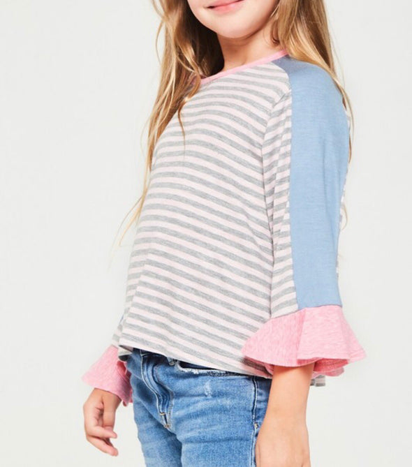Color Block Stripe Top
