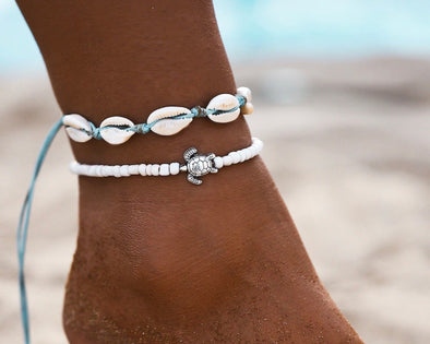 Shell and Bead Anklet