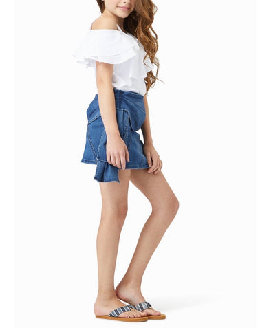 Kristin Side Bow Skort by Habitual Girls