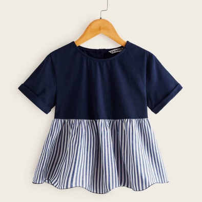 Striped Hem Top