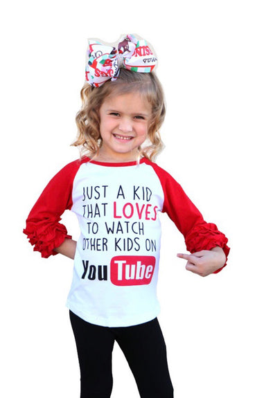 You Tube Raglan Without Ruffled Slvs