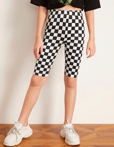 Checkered Bike Shorts