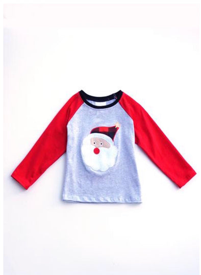 Santa Plaid Raglan