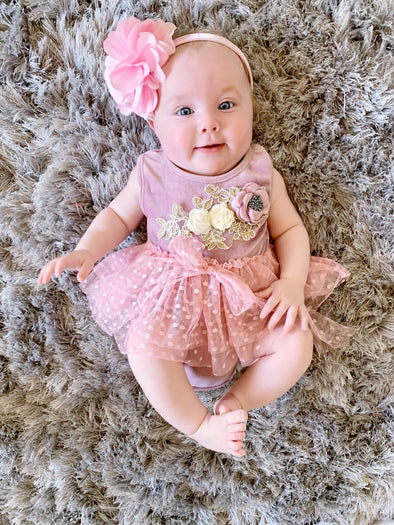 Pink Lace Infant Onesie