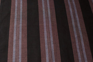 Sri Lankan Cotton - Brown Stripe - Tukuru Textiles