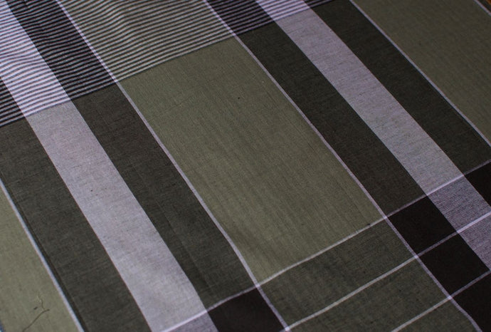 Sri Lankan Cotton - Grey Check - Tukuru Textiles
