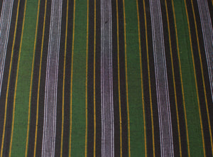Sri Lankan Cotton - Green & Yellow Stripe - Tukuru Textiles