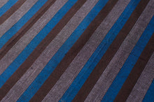 Sri Lankan Cotton - Blue, Black & Grey Stripe - Tukuru Textiles