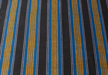 Sri Lankan Cotton - Blue, Black & Yellow Stripe - Tukuru Textiles