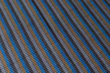 Sri Lankan Cotton - Blue & Yellow Double Stripe - Tukuru Textiles