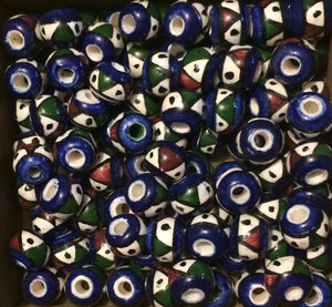 Andean ceramic beads - triangles - Tukuru Textiles