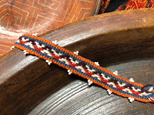 Natural Dye Bracelet - Wave Orange - Tukuru Textiles