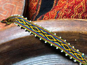 Natural Dye Bracelet - Diamond Yellow - Tukuru Textiles