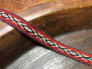 Natural Dye Bracelet - X Orange - Tukuru Textiles