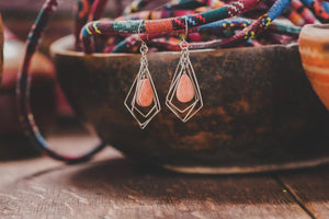 Sandstone earrings - Tukuru Textiles
