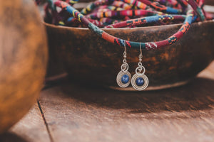 Lapis Lazuli earrings - Tukuru Textiles
