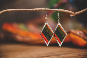 Fabric earrings - Tukuru Textiles