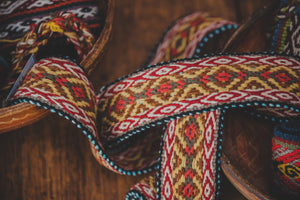Diamond Design Natural Dye Belt - Tukuru Textiles