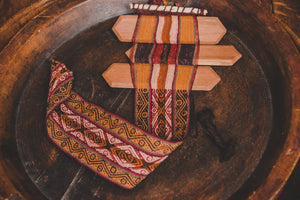 Handwoven Backstrap Belt - On Loom - Tukuru Textiles
