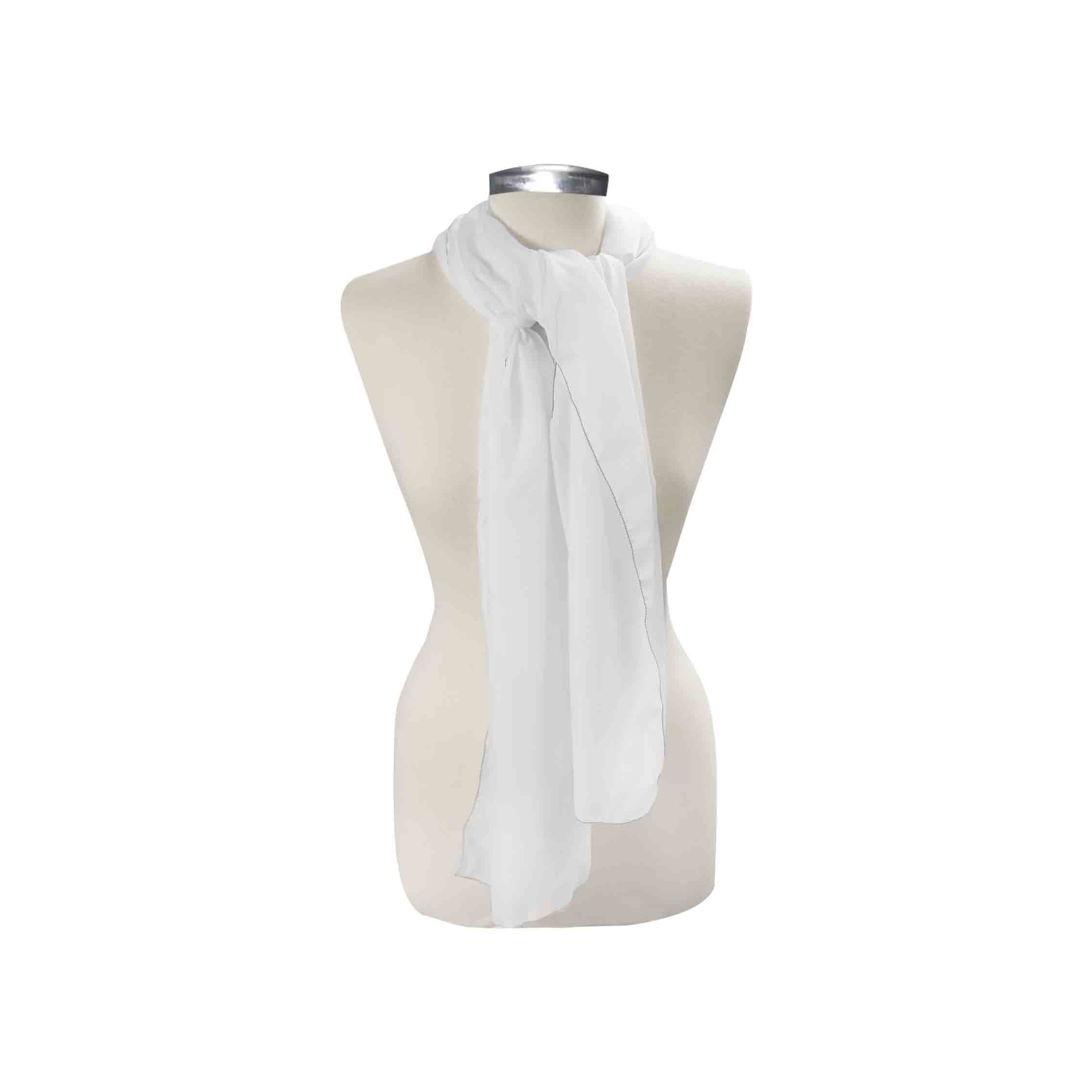 Custom Scarf, Rectangle Poly Chiffon