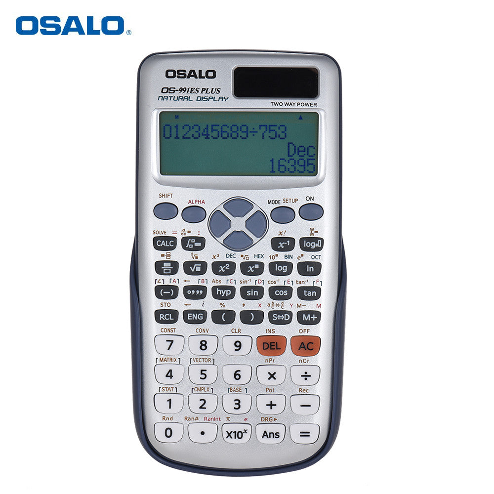 Osalo Os 991es Plus Engineering Scientific Calculator Dual Power Supply Calculadora With Button Battery 417