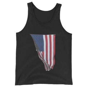 Tank Top Black America Flag