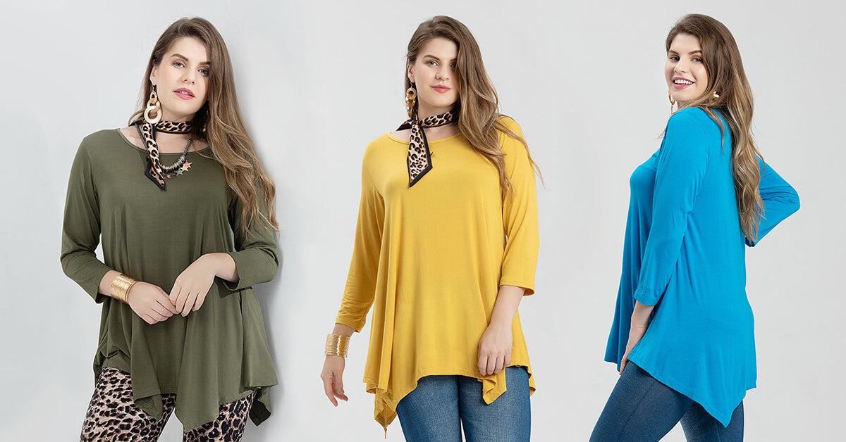 loose basic tunic tops