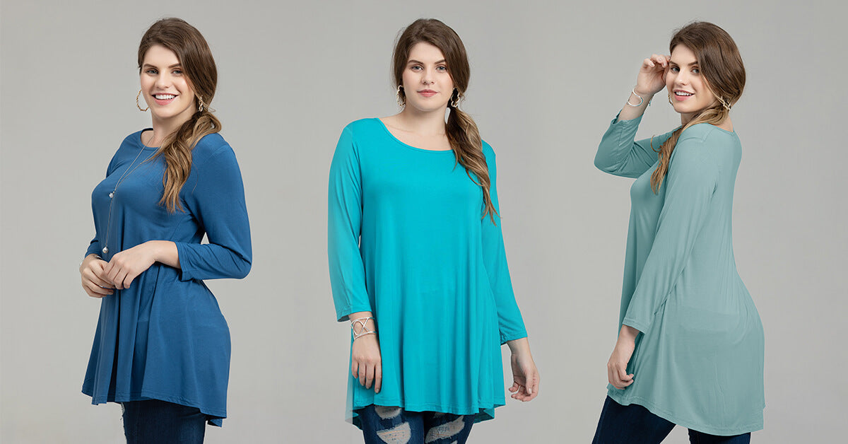 loose fit flare tunic shirt