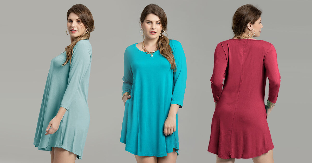 casual swing tunic dress