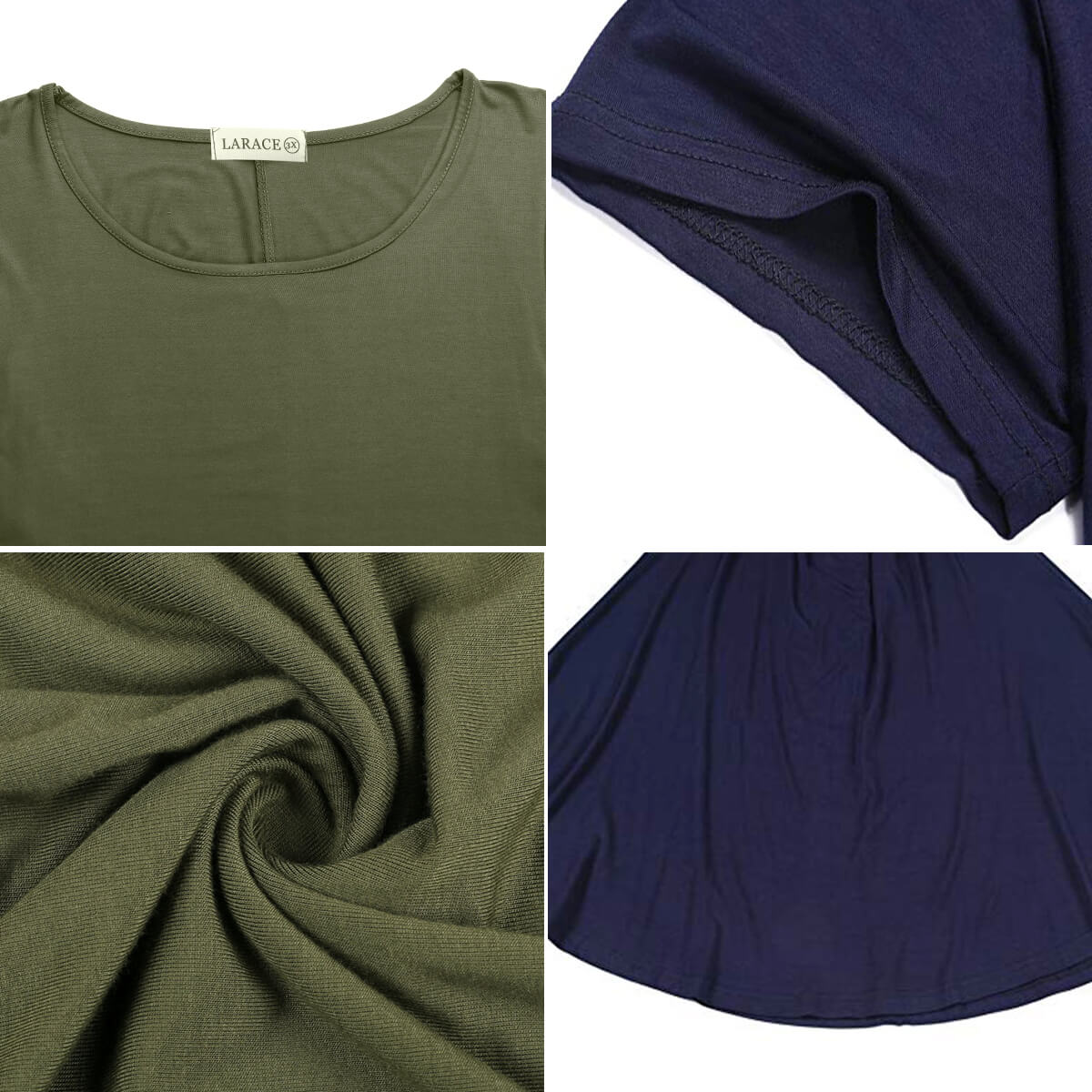 larace tunic tops detail